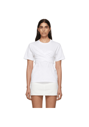 Cedric Charlier White Wrapped T-Shirt