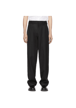 Comme des Garcons Shirt Black Carded Wool Gabardine Trousers