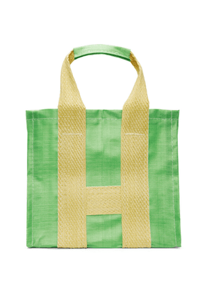 Comme des Garcons Shirt Green and Yellow Poly Large Tote
