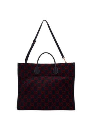 Gucci Navy Wool GG Tote
