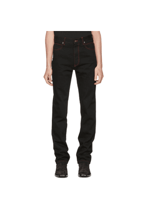 Calvin Klein 205W39NYC Black Dennis Hopper Patch Jeans
