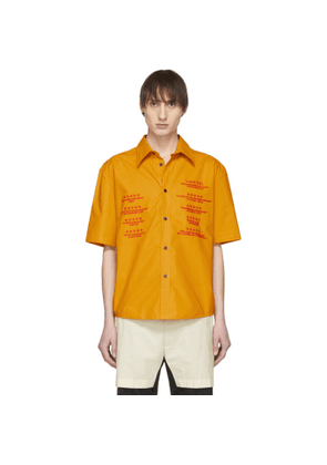Chin Mens Yellow Love Intl. Short Sleeve Shirt