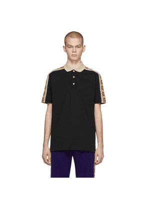 Gucci Black Interlocking G Polo