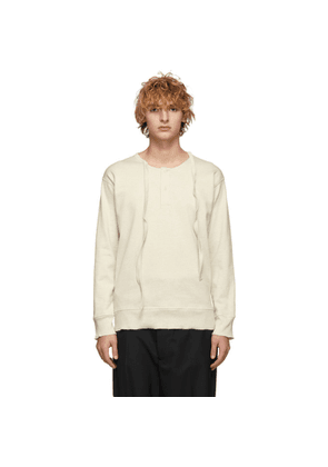 JW Anderson Off-White Knit Long Sleeve T-Shirt