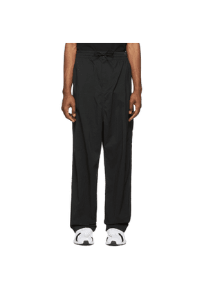 Y-3 Black Twill Wide Trousers
