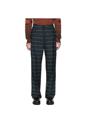 Kenzo Navy and Blue Wild Stripe Trousers