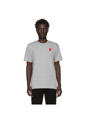 Comme des Garcons Play Grey Long Heart Patch T-Shirt