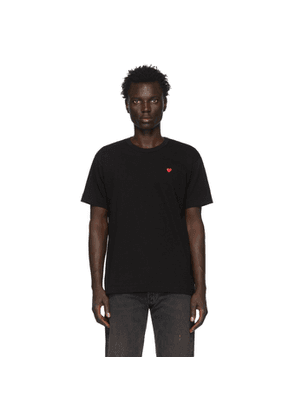 Comme des Garcons Play Black and Red Small Heart T-Shirt