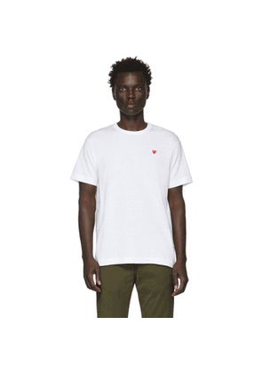 Comme des Garcons Play White Small Heart T-Shirt