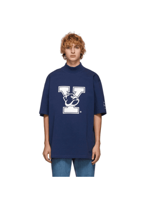 Calvin Klein 205W39NYC Blue Yale Oversized Mock Neck T-Shirt