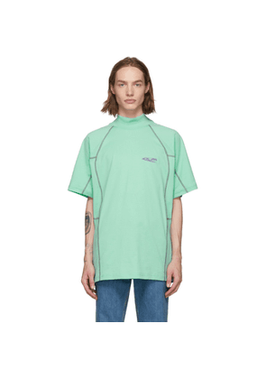 Calvin Klein 205W39NYC Green Scuba Mock Neck T-Shirt