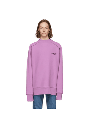 Calvin Klein 205W39NYC Purple Scuba Mock Neck Sweatshirt