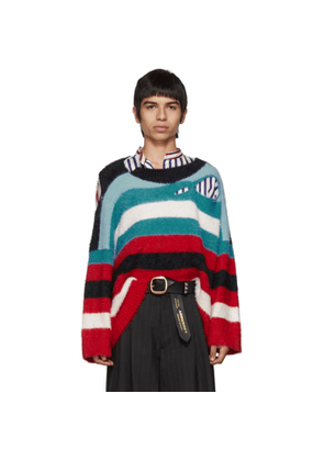Charles Jeffrey Loverboy Blue and Red Wild Things Sweater