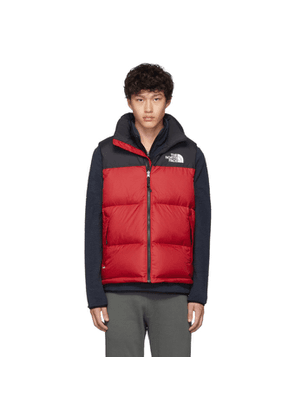 The North Face Red and Black Down 1996 Nuptse Vest