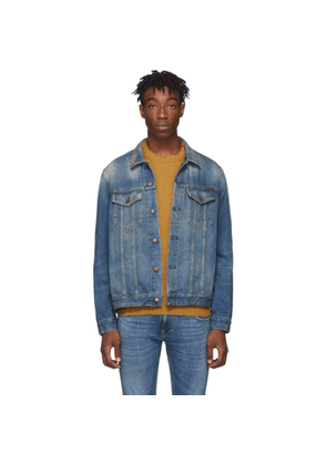 Nudie Jeans Blue Denim Jerry Dark Worn Jacket