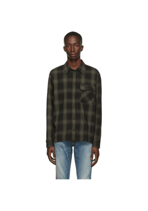Nudie Jeans Black and Grey Shadow Check Sten Shirt