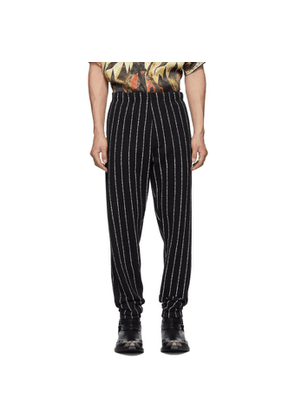 Enfants Riches Deprimes Black Logo Stripe Lounge Pants