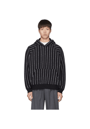 Enfants Riches Deprimes Black Logo Stripe Hoodie