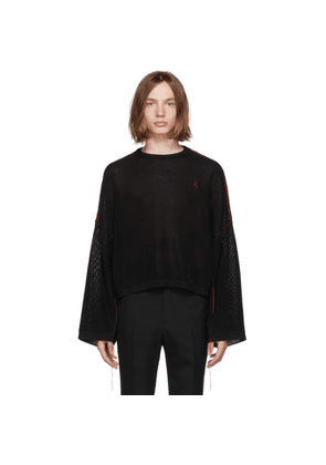 Raf Simons Black Cropped Sweater