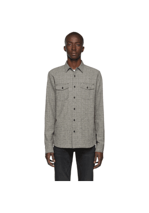 Frame Black and Off-White Double Flap Pocket Shirt