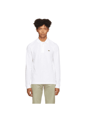 Lacoste White Classic Long Sleeve Polo