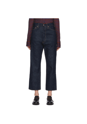 Chimala Indigo Wide Tapered Cut Selvedge Jeans