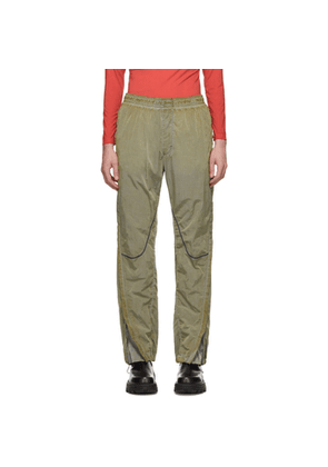 1017 ALYX 9SM Green Curved Seam Lounge Pants