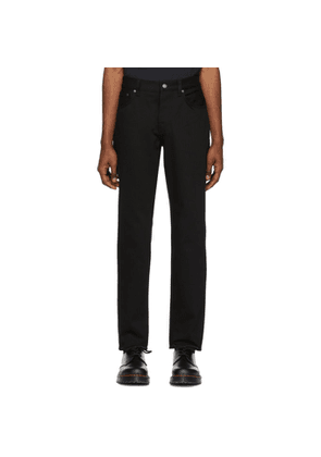 Nudie Jeans Black Twill Steady Eddie II Jeans