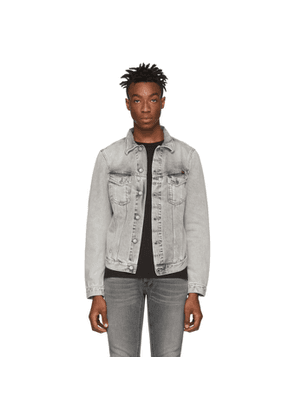 Nudie Jeans Grey Denim Trashed Billy Jacket