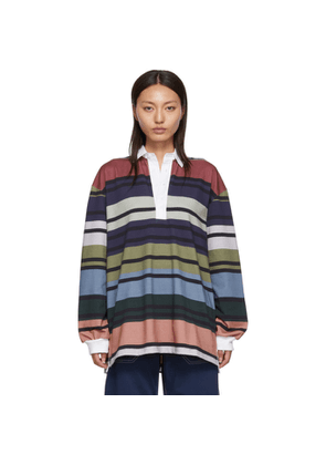 JW Anderson Multicolor Striped Rugby Polo