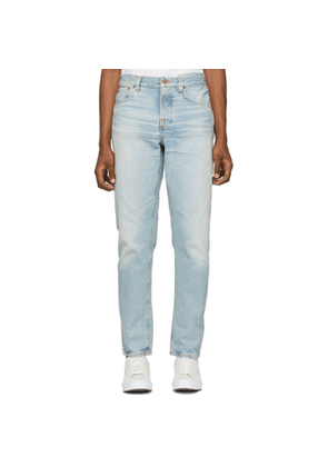 Nudie Jeans Blue Steady Eddie II Regular Tapered Fit Jeans