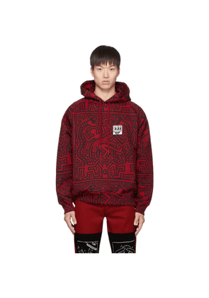 Etudes Red and Black Keith Haring Edition Odysseus Hoodie