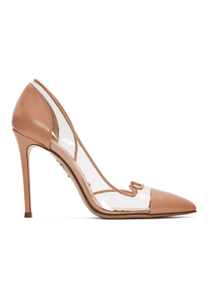 Charlotte Olympia Transparent and Pink Kitty Heels