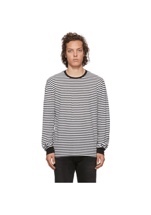 Frame Black and White Thermal Long Sleeve T-Shirt