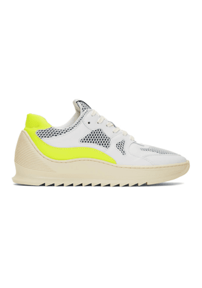 Filling Pieces White and Yellow Plasma Orbit 2.0 Low Sneakers