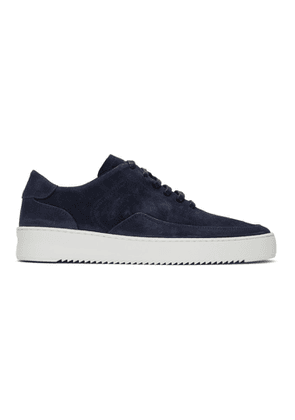 Filling Pieces Navy Suede Singular Mondo Low Sneakers