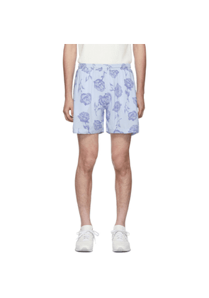 Aries Blue and Purple Rose Board Shorts