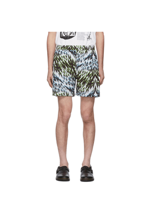 Aries Green and Blue Leopard Animal Board Shorts
