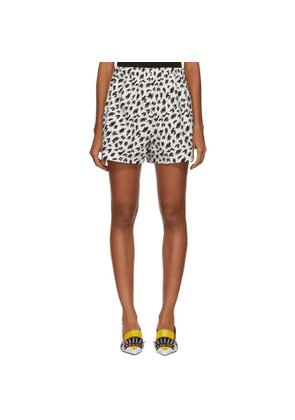 Ashley Williams SSENSE Exclusive White and Black Tropic Shorts