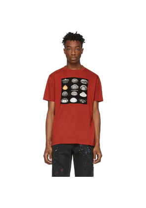Marcelo Burlon County of Milan Red Close Encounters Of The Third Kind Edition Spaceships T-Shirt