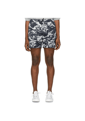 McQ Alexander McQueen Navy and White Holiday Shorts