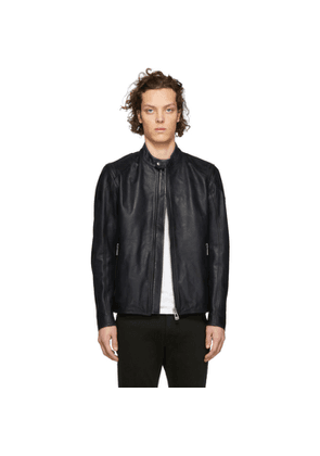 Belstaff Blue Leather Bandit Jacket