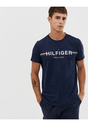 Tommy Hilfiger crew neck lounge t shirt with contrast chest