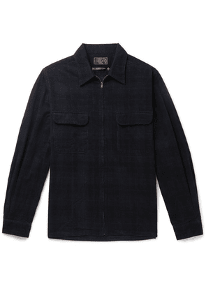 Beams Plus - Checked Cotton-corduroy Zip-up Shirt - Black