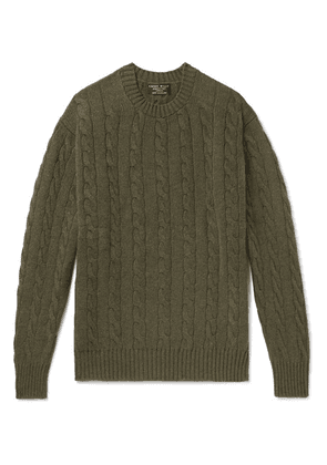Emma Willis - Cable-knit Cashmere Sweater - Green