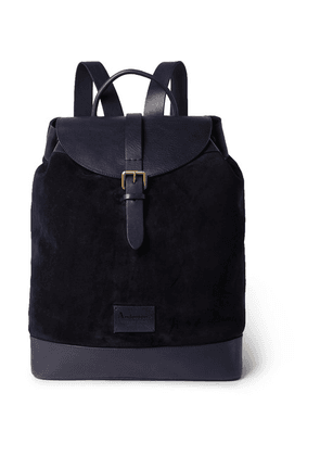 Anderson's - Suede And Leather Backpack - Navy
