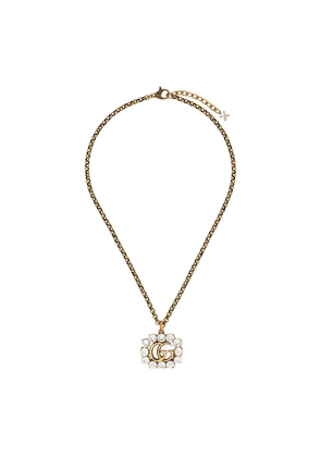 Gucci gold-plated crystal-embellished necklace