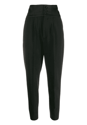 Dondup high-rise tapered trousers - Black