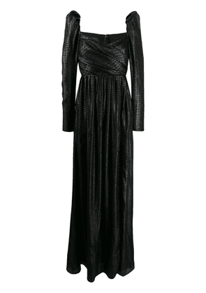 Pinko juliet sleeve evening gown - Black
