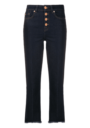 7 For All Mankind fringed highwaisted jeans - Blue